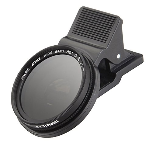 DAVITU ZOMEi 37mm Professional Cell Phone Camera Circular Polarizer Lens CPL for iPhone HTC SJcam Samsung Galaxy Android Smartphone