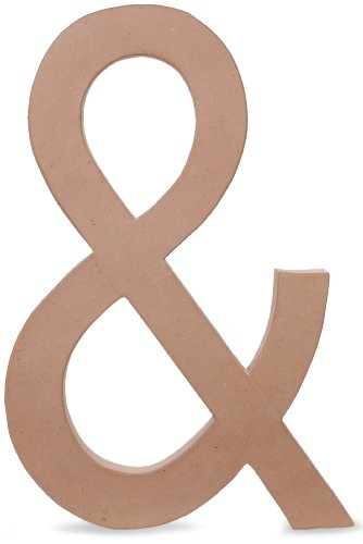 Paper Mache Symbol - Ampersand - 23.5 inches (Cardboard Numbers)