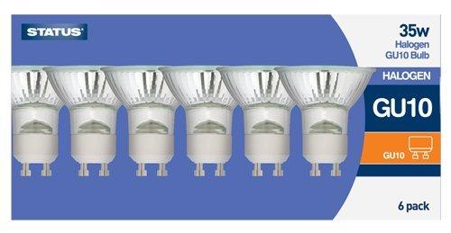 Status GU1035SHD6PKB GU10 35 W LED Halogen Light Bulbs, Clear:  Amazon.co.uk: Lighting