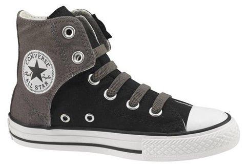 Converse Boy's Chuck Taylor Easy Slip High Pre/Grade School Black/Charcoal 12 M