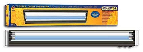 - Coralife 05608 Aqualight Dual Linear Strip T5 Aquarium Lighting Fixture, 24-Inch