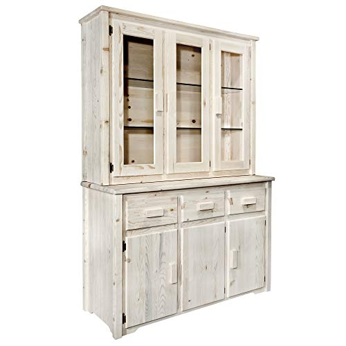 - Montana Woodworks MWHCCHLDAZ China Hutch & Sideboard, Ready to Finish