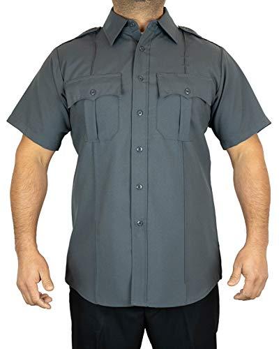 First Class Short-Sleeve Uniform Shirt 1XL Dark Gray