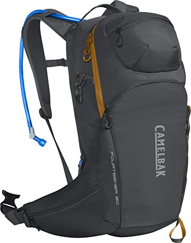 CamelBak Fourteener 20 100 oz Hydration Pack, Charcoal/Rust Orange For Sale