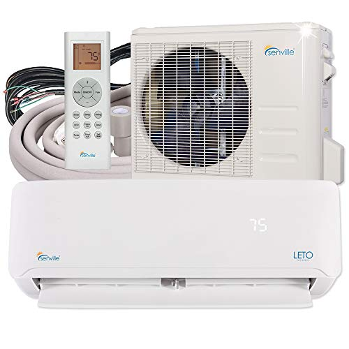 Senville SENL-18CD Mini Split Air Conditioner Heat Pump 18000 BTU 19 SEER (Mini Split Ductless Heat Pump)