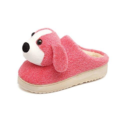 Y-Hui invierno zapatillas de algodón, Hembras, Semi Living zapatos, zapatillas de estar por casa interiores cálidos, zapatos,265 para los hombres (40, 41 pies),Watermelon Red