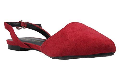 femme rouge Andres pour Machado Ballerines Rot twx7W7APq