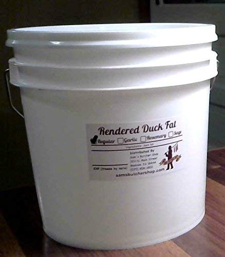 1 Gallon of Duck Fat (7.5 LBS) - Hormone/Antibiotic Free - Do Not Ship to States West of - Fat Rougie Duck