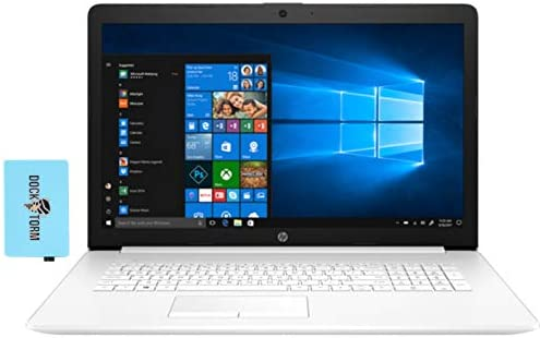 "HP 17t via eleventh Gen Home and Business Laptop (Intel i7-1165G7 4-Core, 16GB RAM, 256GB PCIe SSD + 1TB HDD, Intel Iris Xe, 17.3"" HD+ (1600x900), WiFi, Bluetooth, Webcam, 2xUSB 3.1, Win 10 Home) with Hub"
