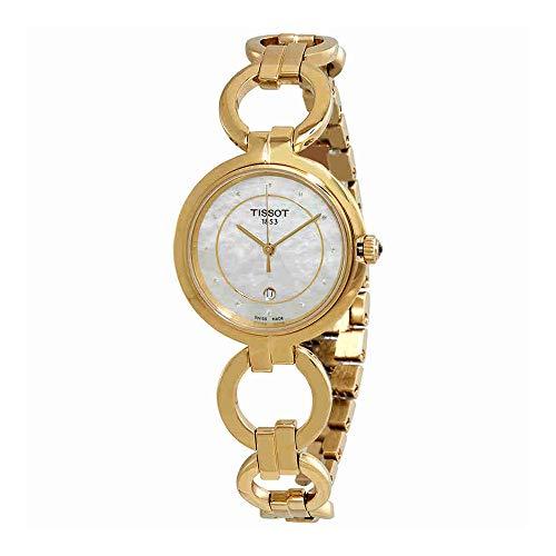 [해외] Tissot Flamingo Ladies Watch골드 다이아몬드모의 펄t094.210.33.116.00