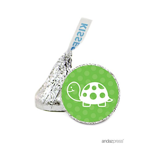 andaz-press-chocolate-drop-labels-stickers-birthday-turtle-216-pack-for-hersheys-kisses-party-favors