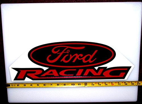 black ford racing logo. large ford racing logo very bold high gloss red on black hq vinyl decals