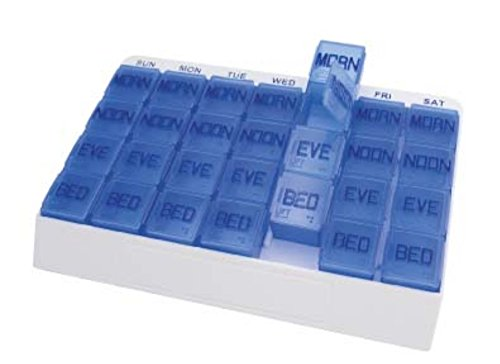Apex 7 Day 4-Times-Per-Day Medi Tray Pill Organizer (Large)
