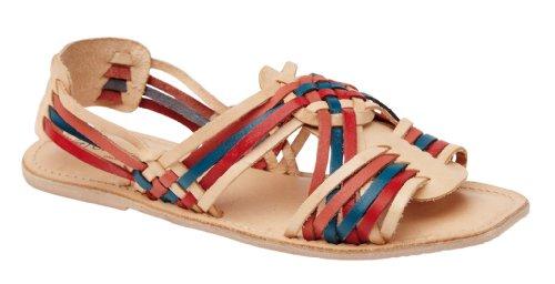 Naturfarbene Damen Multi L6726 Sandale Leder Riemchensandalen qSxSwR5Ap