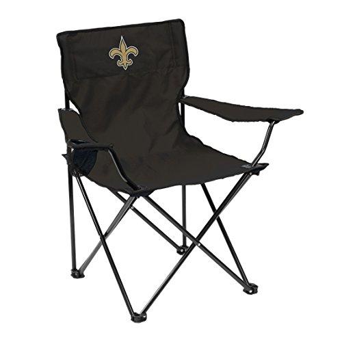 Logo Brands NFL Orleans Saints Quad Chair Quad Chair, Charcoal, One Size