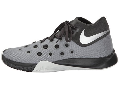 NIKE Mens ZM Hyperquickness 2015 TB Mesh Zoom Basketball Shoes B00Q5OG78O 11.5 D(M) US|Grey/Deep Pewter/Night Silver/Metallic Silver