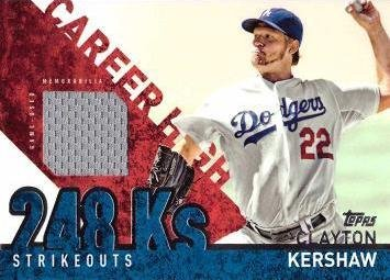 Topps Career Clayton Kershaw Baseball