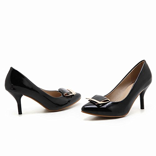 Elegant Women's Heel Carolbar High Black Dress Toe Shoes Pointed Stiletto Charm aF6wBqg7