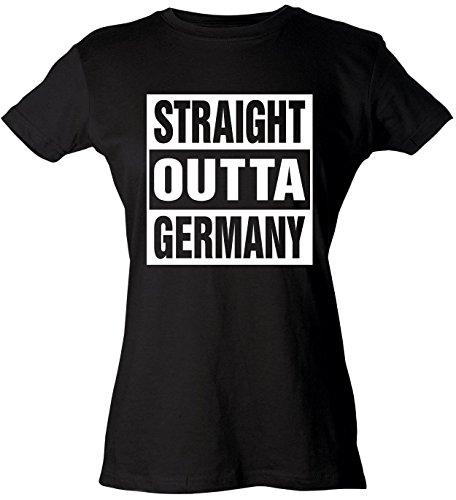 Diva Joy Womens Funny T-Shirt STRAIGHT OUTTA GERMANY - To Usps Germany Ship