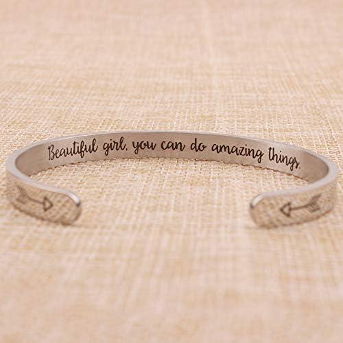 Fits Nomination BLESSED 18K Gold Plate Engraved Superlink Inspirational Motivational Bracelet Charm