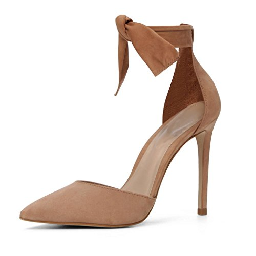Pumps Cut 100mm D'Orsay Schuhe Toe Kolnoo Knöchelriemchen Stiletto Pointed Out Damen xUTq7wYB