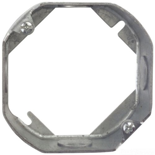 (Steel City 55151-1/2-25 4-Inch Diameter 1-1/2-Inch Deep 15.8-Cubic Inch Pre- Galvanized Steel Octagon Box Extension Ring)