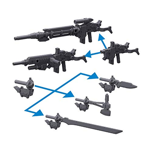 30MM Alto for Option Weapon 1 1/144 Scale Color-Coded pre-Plastic Model