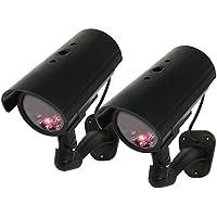 KGUARD Security 2 packs of Indoor Dummy Bullet Camera, black (ABLT01-PK2)
