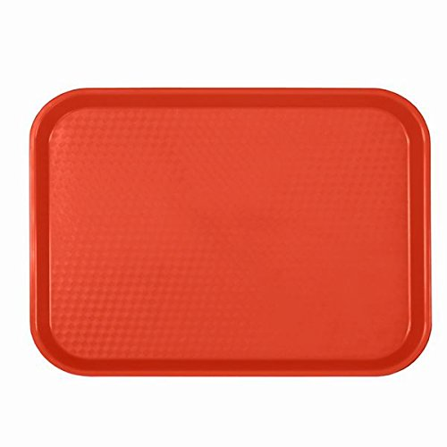 FAST FOOD SERVING TRAYS | PLASTIC | PIZZERIA | CAFFETERIA | RESTAURANT | DINER RED, BROWN, ORANGE, BLACK, GREEN (10 1/2