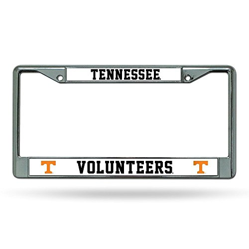 Rico Industries NCAA Tennessee Volunteers Chrome Plate Frame, Orange Lettering by Rico Industries