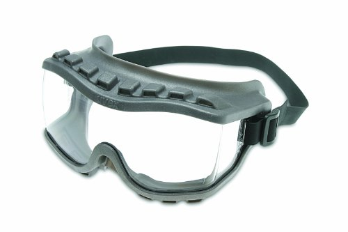 Lens Gray Body - Uvex S3805 Strategy Safety Goggles, Gray Body, Clear Uvextra Anti-Fog Lens, Closed Vent, Neoprene Headband