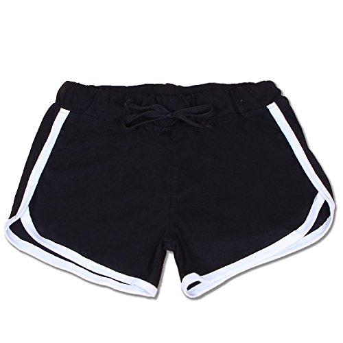 Yoga Vita Casuale Tempo Shorts Giovane Esecuzione Yoga Pantaloncini Women Pantaloncini Formazione Libero Corti Elodiey Nero Pants Alta In Donna Pantaloni Grazioso Ragazze Sport Estate qtPwR