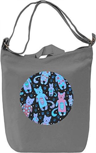 Cute Kitties Borsa Giornaliera Canvas Canvas Day Bag| 100% Premium Cotton Canvas| DTG Printing|