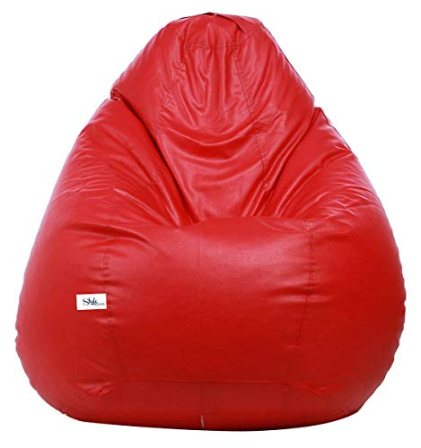 StyleOceans Bean Bag Cover Without Beans  XXXL, Red