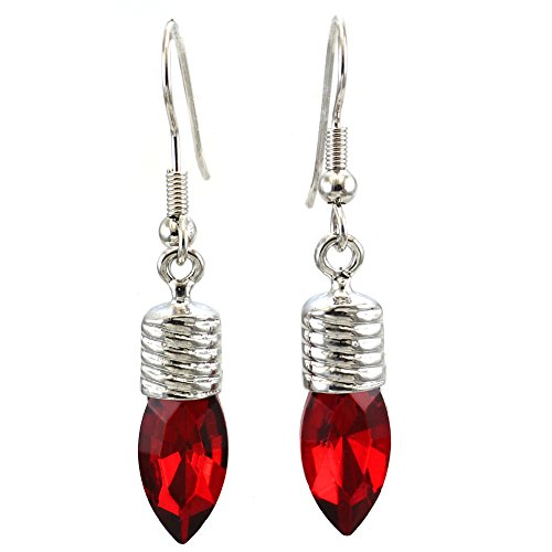 Happy Xmas Christmas Love Red Lights Ball Bulb Hoop Dangle Earrings Jewelry for $<!--$9.99-->