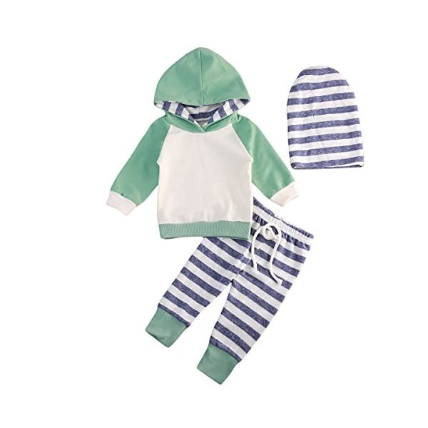 Kerrian Online Fashions 41J7FMogOFL Baby Boys Girls Clothes Long Sleeve Hoodie Tops Sweatsuit Pants Headband Outfits Set 0-24 Months