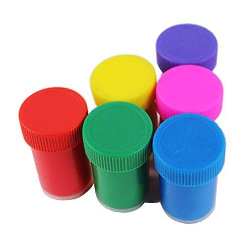 Happlee Finger Paint Set, Washable Kid's Paints, Washable Kids Finger Painting Pack of 6 Bottles, Eco Kids Non-Toxic Natural Paints (6 Cols)