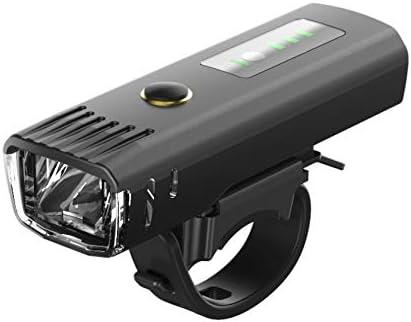 自転車ライト、USB充電式、フロントLEDヘッドライト250のルーメン、安全懐中電灯の1500mAh光感知自転車ライトアウトドアスポーツライディングマウンテンライト