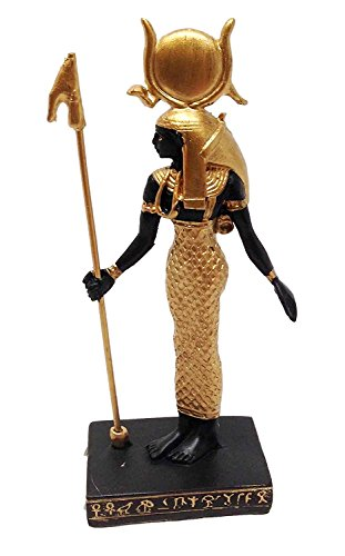 EGYPTIAN GODDESS OF MOTHERHOOD HATHOR STATUE SMALL DOLL HOUSE MINIATURE 3