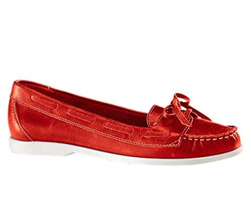 Heine Damen-Schuhe Mokassins Rot Rot