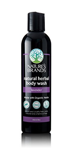 100 % Pure Shower Gel Organic Lavender - Herbal Choice Mari Organic Herbal Body Wash, Lavender; 8floz
