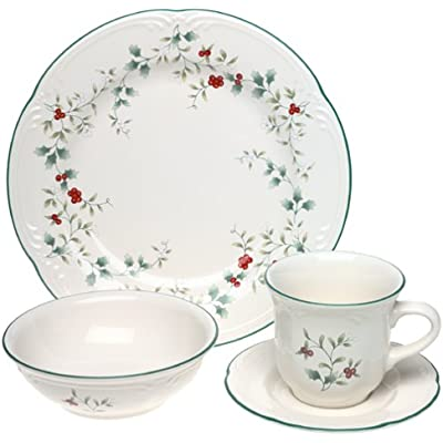Click for Pfaltzgraff Winterberry 16-Piece Dinnerware Set with Cup and Saucer, Service for 4