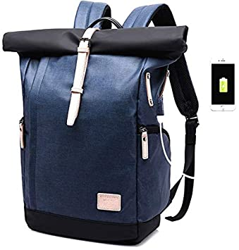 KAKA Fashion Brand Designer Backpack Bag College Function School Backpack  Men Bag with USB Charger Laptop Backpacks Mochila (Blue, 15.6 inch)   Amazon.in  ... 9ab7abe850