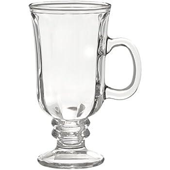 style setter optic irish coffee mugs set of 4 clear