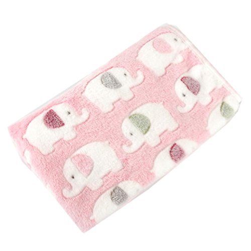 Aurorax Pet Dog Cat Bed Super Soft Warm Blanket Plush Beautiful Throw Blanket Pet Cushion Sleep Mat (Pink, (Pink Solid Cotton Flannel)