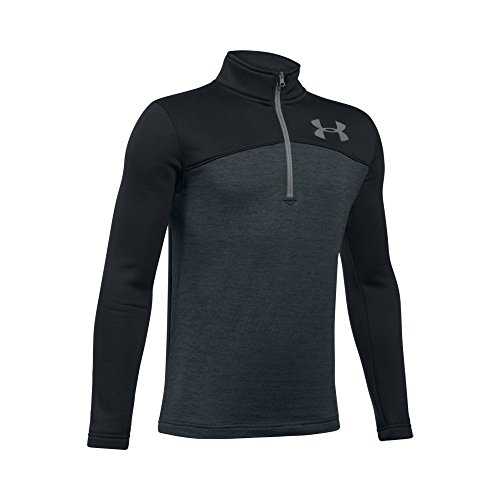 Under Armour Boys' Storm Armour Fleece  Expanse 1/4 Zip, Black/Anthracite, Youth X-Large