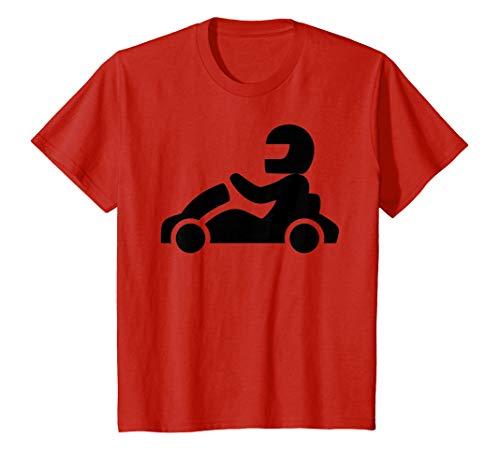 Kids Go Kart Racer T-Shirt 4 Red