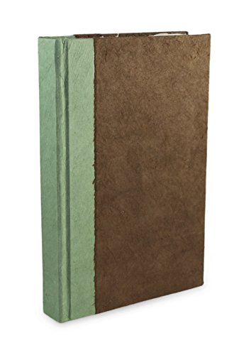 Nepali Namaste Writing & Prayer Journal with Handmade Vintage Lokta Paper & Vegetable-Dyed Hardcover, Made in the Himalayas of Nepal, 6x9 inches, Walnut ()