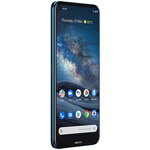 Nokia 8.3 5G | Android 10 | Unlocked Smartphone | Dual SIM | US Version | 8/128GB | 6.81-Inch Screen | 64MP Quad Camera | Polar Night