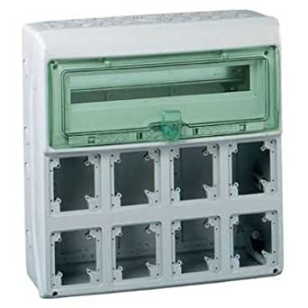 Schneider Electric 13182 ENCLOSURE KAEDRA FOR 8 SOCKETS, White